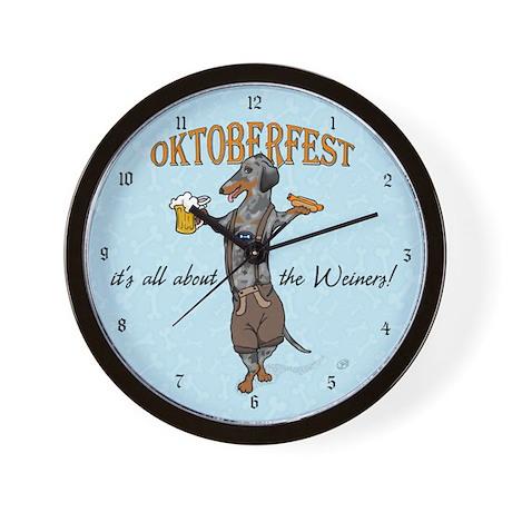Dapple Oktoberfest Weiner Dog Wall Clock