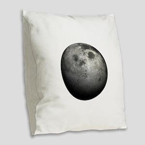 3D Moon Burlap Throw Pillow