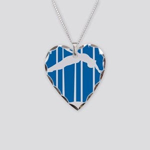 Springboard Diving Necklace Heart Charm