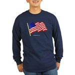 """American Flag"" Long Sleeve Dark T"