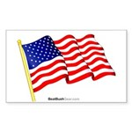 """American Flag"" Rect Sticker"
