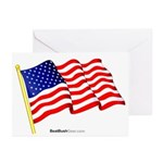 """American Flag"" Greeting Cards (10)"