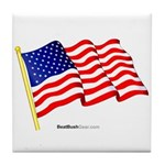 """American Flag"" Tile Coaster"