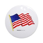"""American Flag"" Ornament (Round)"
