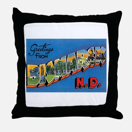 Bismarck North Dakota ND Throw Pillow