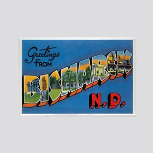 Bismarck North Dakota ND Rectangle Magnet