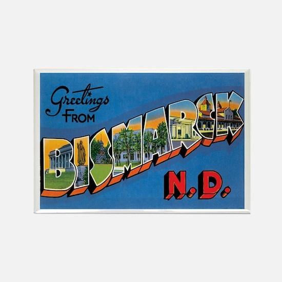 Bismarck North Dakota ND Rectangle Magnet