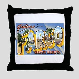 Fargo North Dakota ND Throw Pillow