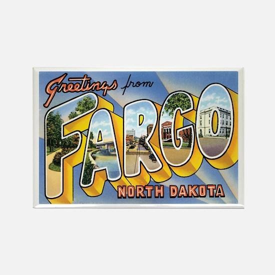 Fargo North Dakota ND Rectangle Magnet