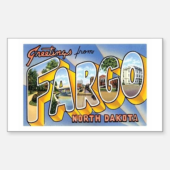 Fargo North Dakota ND Rectangle Decal