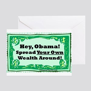 """""""Spread Your Own Wealth"""" Greeting Card"""