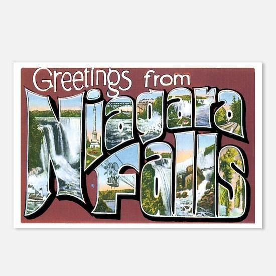 Niagara Falls New York NY Postcards (Package of 8)