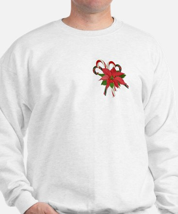 Poinsettias & Candy Canes Sweatshirt