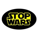 Stop Wars : Oval Sticker