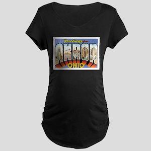 Akron Ohio OH Maternity Dark T-Shirt