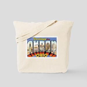 Akron Ohio OH Tote Bag