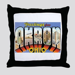 Akron Ohio OH Throw Pillow
