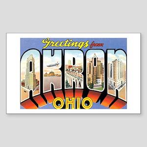 Akron Ohio OH Rectangle Sticker