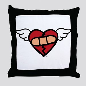 """Winged Heart"" Throw Pillow"