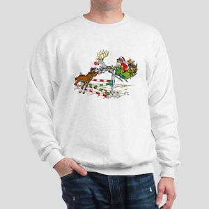 Santa Jumping Horse Jump Sweatshirt