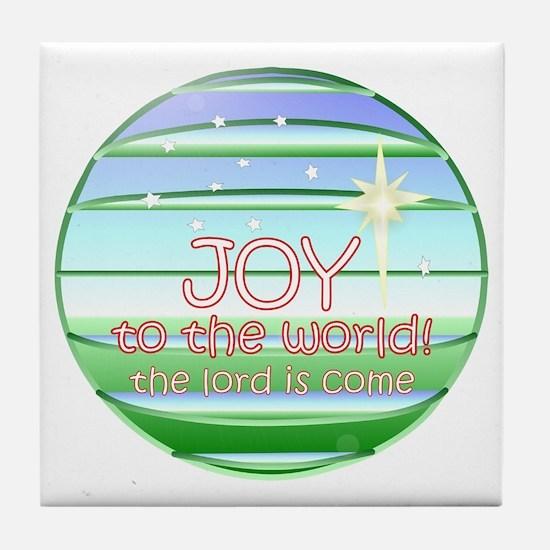 Cute Yoga christmas Tile Coaster