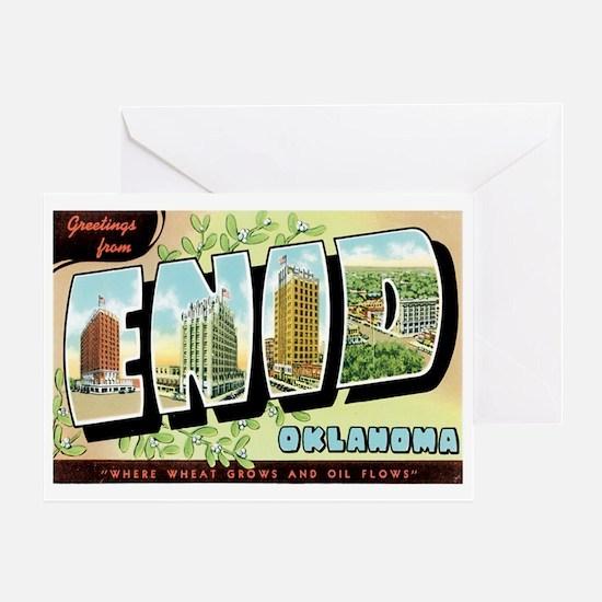 Enid Oklahoma OK Greeting Card