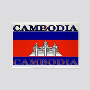 Cambodia Cambodian Flag Rectangle Magnet