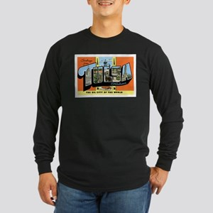 Tulsa Oklahoma OK Long Sleeve Dark T-Shirt
