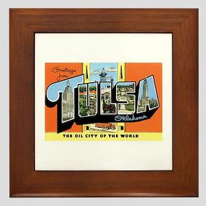 Tulsa Oklahoma OK Framed Tile
