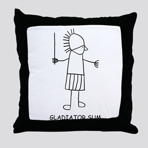 Gladiator Sum Throw Pillow