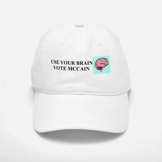 Use Your Brain, Vote McCain Baseball Baseball Cap