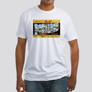 Portland Oregon OR Fitted T-Shirt
