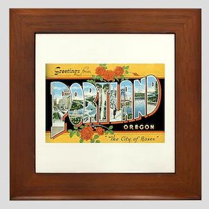 Portland Oregon OR Framed Tile