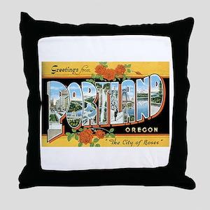 Portland Oregon OR Throw Pillow