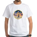 XmasStar/Cattle Dog White T-Shirt