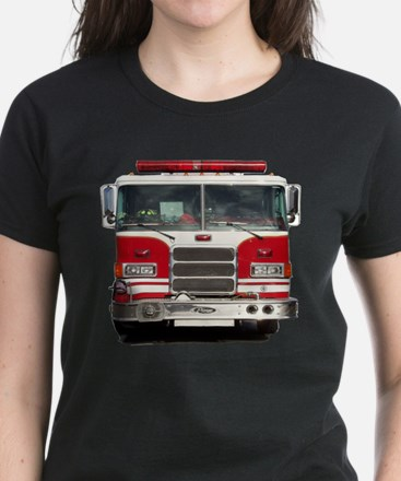 PIERCE FIRE TRUCK Women's Dark T-Shirt