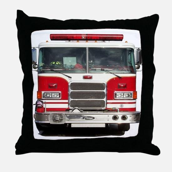 PIERCE FIRE TRUCK Throw Pillow