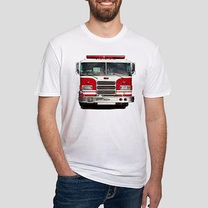 PIERCE FIRE TRUCK Fitted T-Shirt