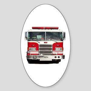 PIERCE FIRE TRUCK Oval Sticker