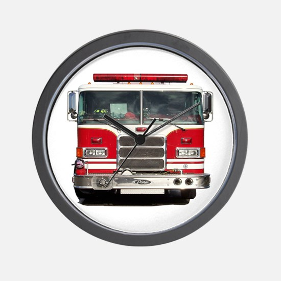 PIERCE FIRE TRUCK Wall Clock