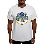 XmasMusic 3/Fr Bulldog 16 Light T-Shirt