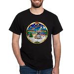 XmasMusic 3/Fr Bulldog 16 Dark T-Shirt