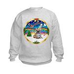 XmasMusic 3/Fr Bulldog 16 Kids Sweatshirt