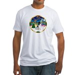 XmasMusic 3/Eng Springer 8 Fitted T-Shirt