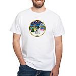 XmasMusic 3/Eng Springer 8 White T-Shirt
