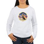 XmasStar/Rottie #3 Women's Long Sleeve T-Shirt