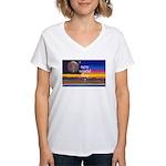 NEW WORLD FLAG ? Women's V-Neck T-Shirt