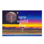 NEW WORLD FLAG ? Postcards (Package of 8)