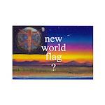 NEW WORLD FLAG ? Rectangle Magnet (100 pack)