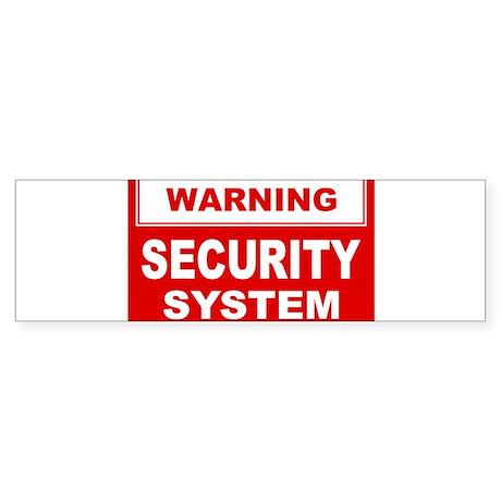 WARNING SECURITY SYSTEM Bumper Sticker (10 pk)